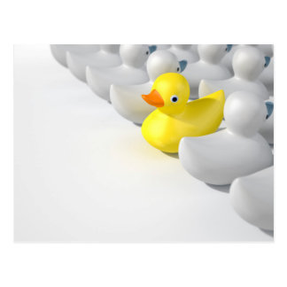 Rubber Duck Against The Flow Postcard