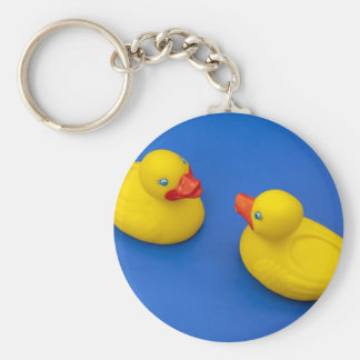 Rubber Duck Basic Round Button Key Ring