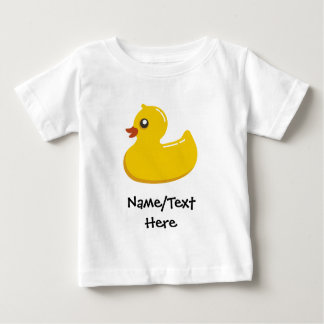 Rubber Duck Blue Bubbles Personalized Kids Baby T-Shirt