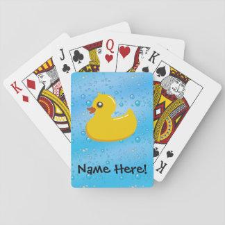 Rubber Duck Blue Bubbles Personalized Kids Card Decks