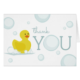 Rubber Duck Bubbles Baby Shower Thank You Card