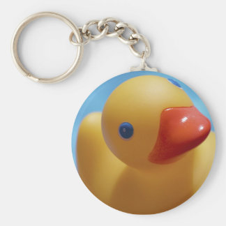 Rubber Duck Close-Up Basic Round Button Key Ring