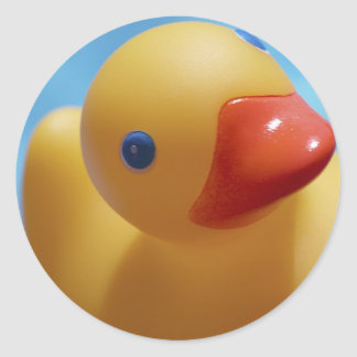 Rubber Duck Close-Up Classic Round Sticker
