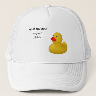 Rubber duck cute fun yellow custom hat, cap, gift trucker hat