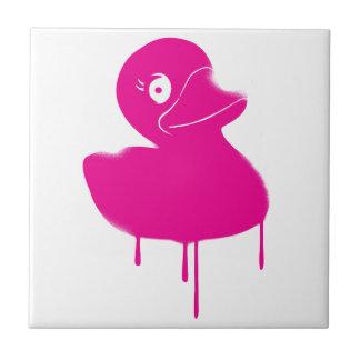 Rubber Duck Ducky Graffiti Art Small Square Tile