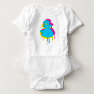 Rubber Duck Graffiti Pop Art Rubber Ducky Baby Bodysuit
