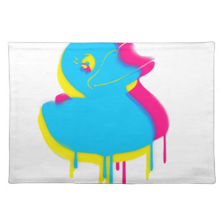 Rubber Duck Graffiti Pop Art Rubber Ducky Placemat