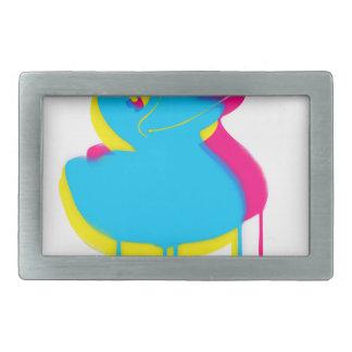 Rubber Duck Graffiti Pop Art Rubber Ducky Rectangular Belt Buckle