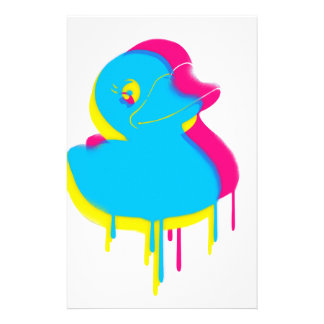 Rubber Duck Graffiti Pop Art Rubber Ducky Stationery