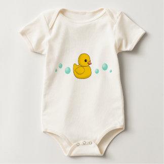 Rubber Duck Pattern Baby Bodysuit