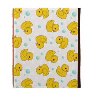Rubber Duck Pattern iPad Folio Case