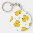 Rubber Duck Pattern Key Ring