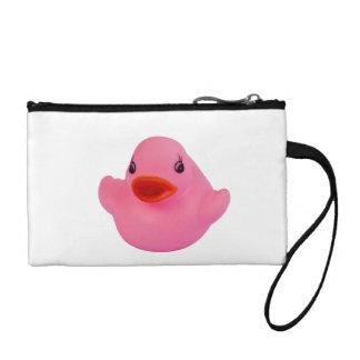 Rubber duck pink cute, novelty, fun, gift change purses