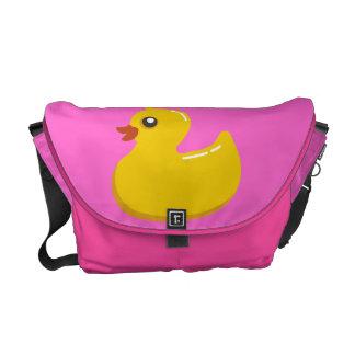 Rubber Duck Pink Messenger Bag