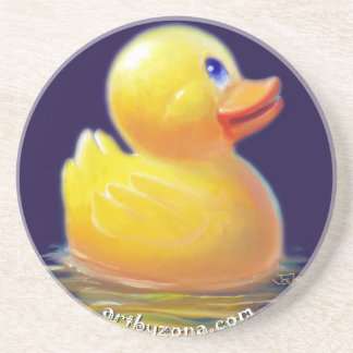 Rubber Duck s Vacation Beverage Coaster