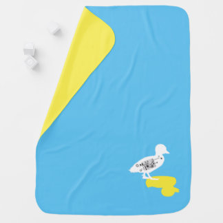 Rubber duck - Shadow Duck Baby Blanket