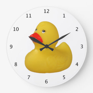 Rubber duck yellow fun cute novelty gift large clock