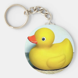 Rubber Duckie Basic Round Button Key Ring