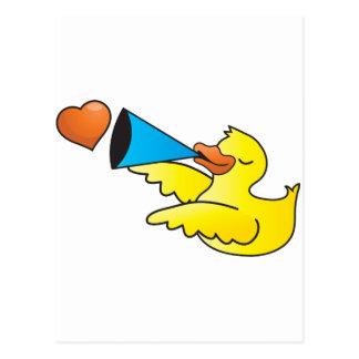 Rubber duckie loud speaker post cards