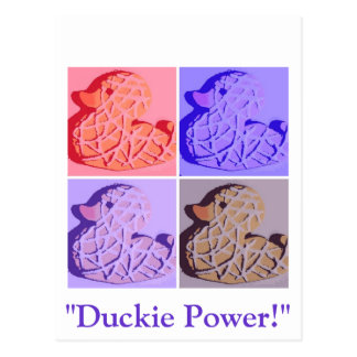 Rubber Duckie Pop Art Postcard