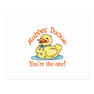 RUBBER DUCKIE POSTCARD