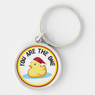 Rubber duckie you are the one christmas keychain