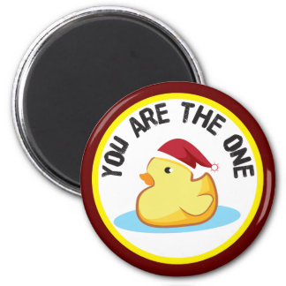 Rubber duckie you are the one christmas magnet