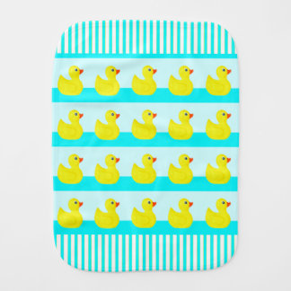 RUBBER DUCKS BABY BURP CLOTHS