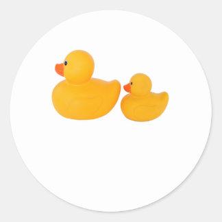Rubber ducks classic round sticker