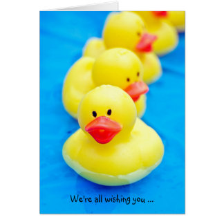 Rubber Ducks for Speedy Recovery Greeting Card