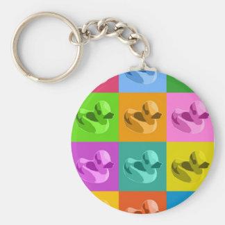 Rubber Ducks Basic Round Button Key Ring