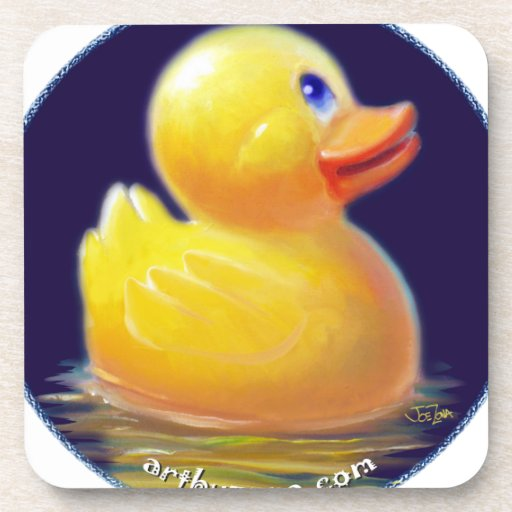 Rubber Duck's Vacation Drink Coasters