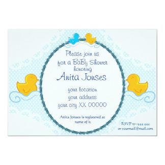 rubber ducky baby shower card 13 cm x 18 cm invitation card