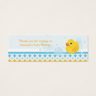 Rubber Ducky Baby Shower Favor Tag Mini Business Card