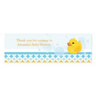 Rubber Ducky Baby Shower Favor Tag Pack Of Skinny Business Cards
