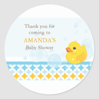 Rubber Ducky Baby Shower Favour Sticker