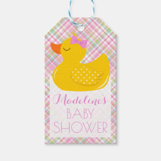 Rubber Ducky Baby Shower Gift Tags