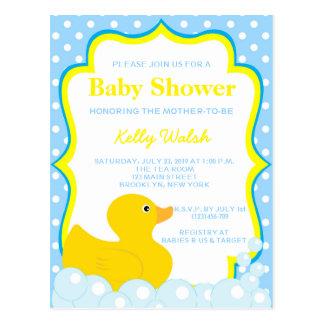 Rubber Ducky Baby Shower Invitation Postcard