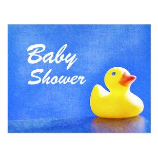 Rubber Ducky Baby Shower Postcard Invitation