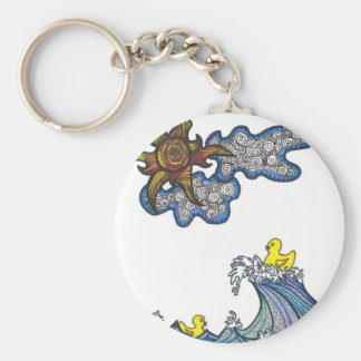 Rubber Ducky Basic Round Button Key Ring