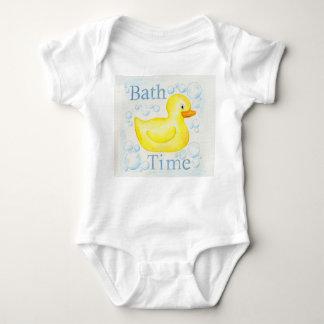 Rubber Ducky Bathtime infant clothing Baby Bodysuit