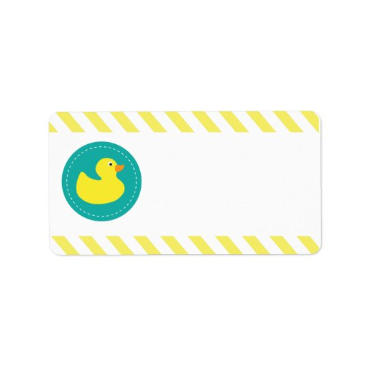 Rubber Ducky Blank Labels
