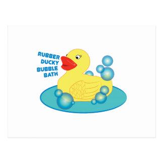 Rubber Ducky Bubble Bath Post Card