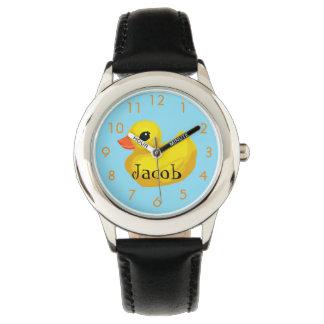 """""""Rubber Ducky"""" Custom Kid's Watch"""