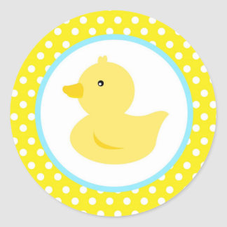Rubber Ducky Duck Favour Stickers