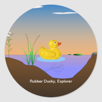 Rubber Ducky, Explorer Round Sticker