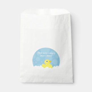 Rubber Ducky Favor Bag - Blue
