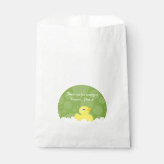 Rubber Ducky Favor Bag - Green