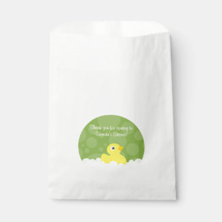 Rubber Ducky Favor Bag - Green Favour Bags