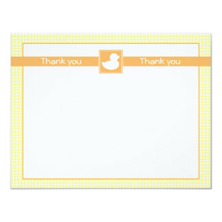 Rubber Ducky Flat Thank You Note 11 Cm X 14 Cm Invitation Card